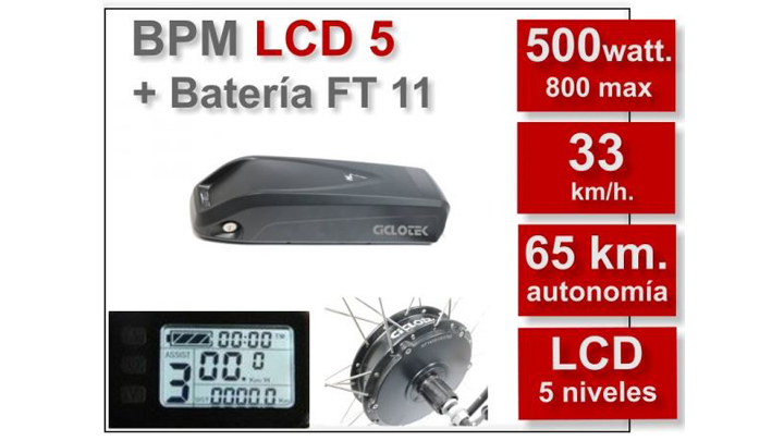 KIT BPM-LCD5 BATERÍA FT 11Ah