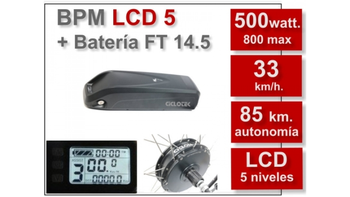 KIT BPM-LCD5 BATERÍA FT 14,5Ah